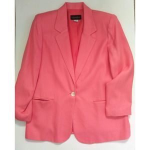 Vintage Requirements Salmon One Button Blazer 12